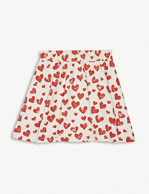 MOLO Barbera heart print cotton skirt 3-12 years