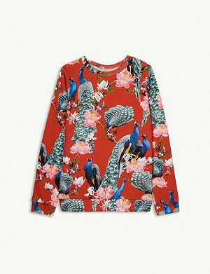 MOLO Marlee peacock cotton sweatshirt 4-12 years