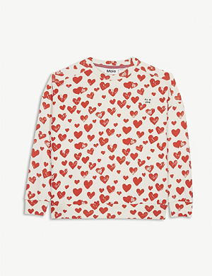 MOLO Mandy cotton heart sweatshirt 4-14 years