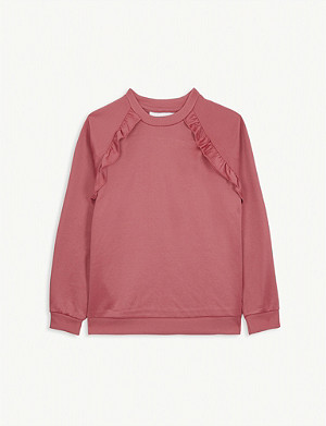 MOLO Frilled cotton-blend sweatshirt 4-14 years