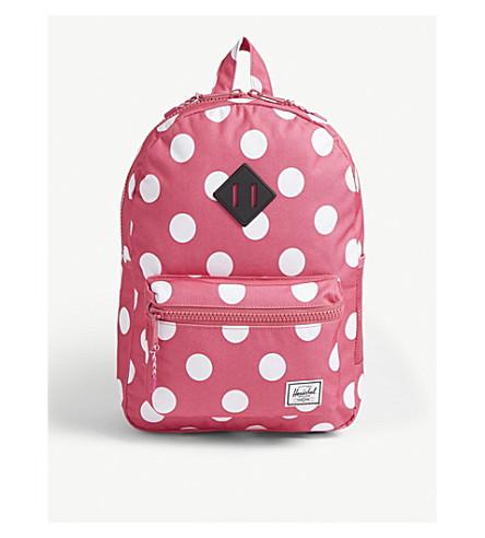 833db37fb351 HERSCHEL SUPPLY CO Heritage Youth polka-dot canvas backpack  (Polkadot+fandango+pink