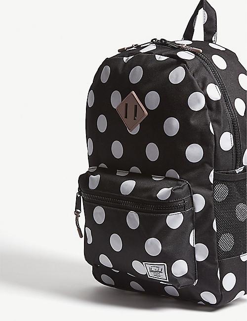 72e27b06f5 HERSCHEL SUPPLY CO Heritage Youth XL polka-dot backpack