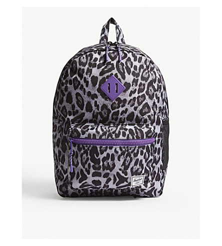 00d3f3d00f1a HERSCHEL SUPPLY CO Heritage Youth XL snow leopard print backpack  (Snow+leopard