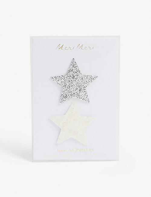 MERI MERI Glitter star patches set of two