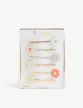 MERI MERI: Daisy hair slides set of six