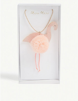 MERI MERI: Flamingo pom-pom necklace