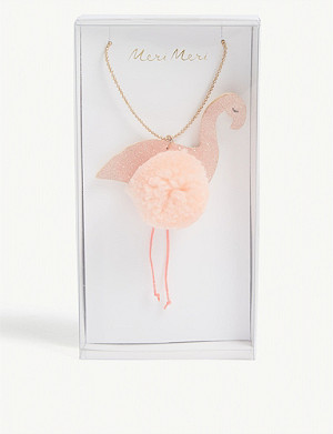 MERI MERI Flamingo pom-pom necklace