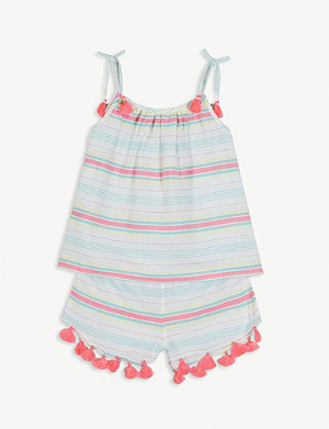 SUNUVA Striped cotton top and shorts set 3-14 years