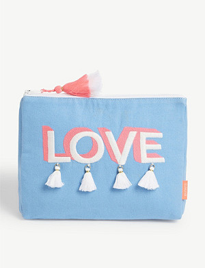 SUNUVA Love slogan-print wash bag