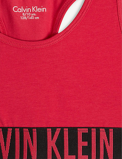 CALVIN KLEIN Intense Power cotton-blend bralettes set of two 8-16 years