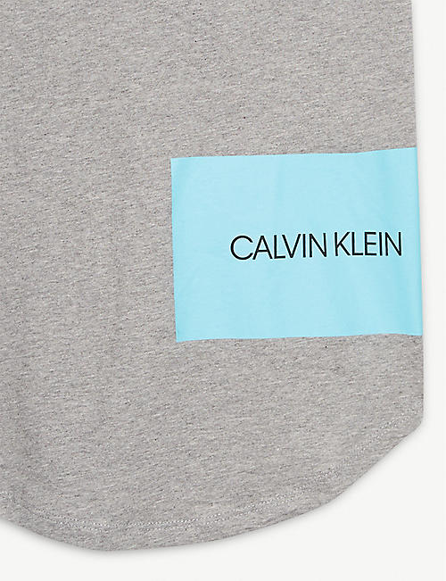 CALVIN KLEIN Logo cotton tank dress 8-16 years