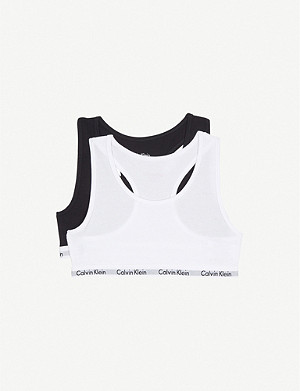 CALVIN KLEIN Pack of two Modern Cotton bralettes 4-16 years