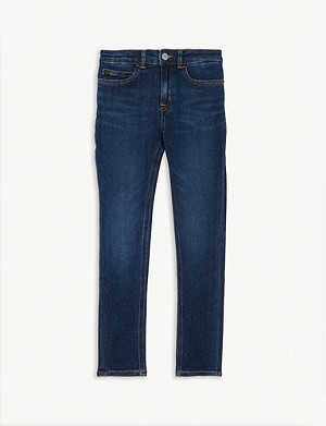 CALVIN KLEIN JEANS High rise skinny jeans 4-16 years