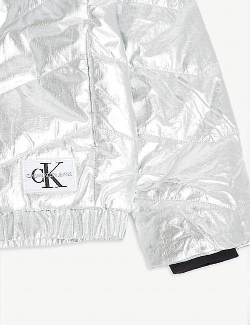 CALVIN KLEIN JEANS Metallic bomber jacket 4-16 years