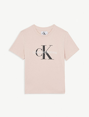 CALVIN KLEIN JEANS Logo-printed cotton T-shirt 4-16 years