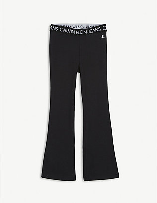 CALVIN KLEIN JEANS: Flared cotton-jersey leggings 4-16 years