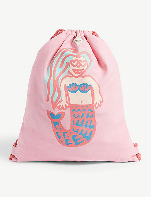 BARTS AL Liku mermaid print cotton canvas bag