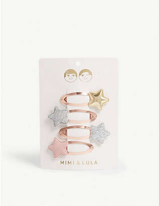 MIMI & LULA: Tokyo star hair clips pack of six