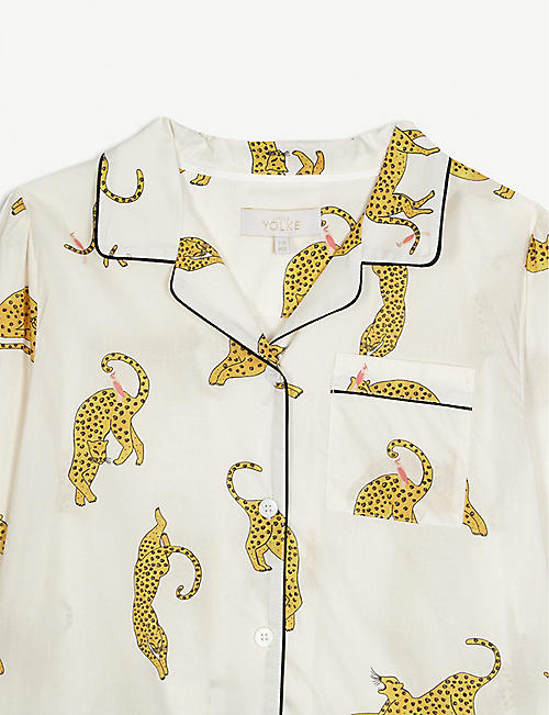 LITTLE YOLKE Leopard print cotton pyjamas 3-12 years