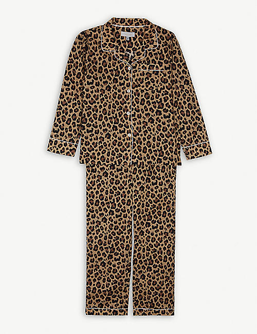 LITTLE YOLKE Leopard cotton pyjamas 3-12 years