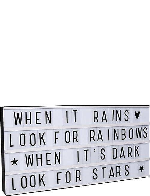 A LITTLE LOVELY COMPANY Rainbows XL LED lightbox