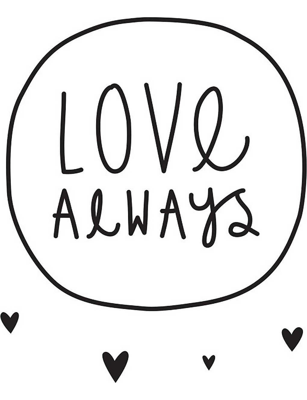 A LITTLE LOVELY COMPANY - Love Always wall sticker   Selfridges com