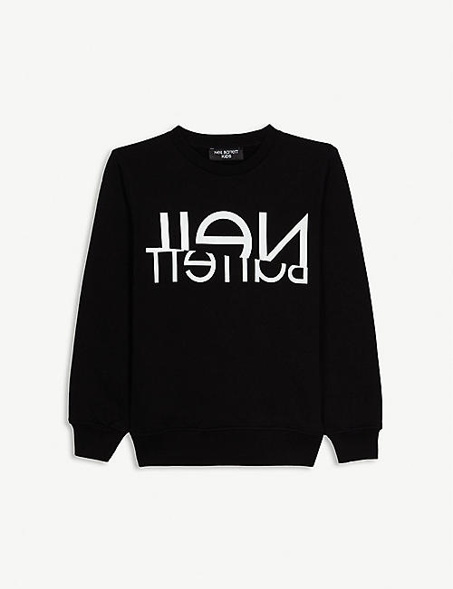 NEIL BARRETT Logo cotto sweatshirt 4-14 years