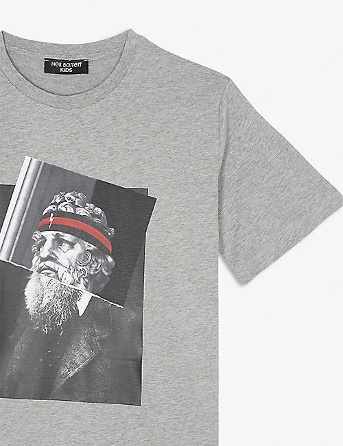 NEIL BARRETT Darwin Poseidon cotton T-shirt 4-14 years
