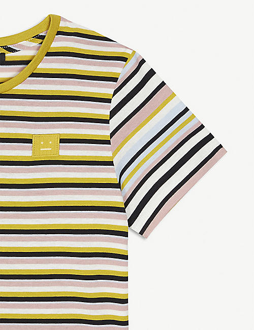 ACNE STUDIOS Elvin striped cotton T-shirt 3-10 years