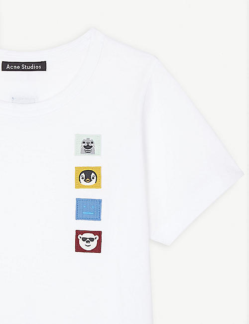 ACNE STUDIOS Mini Nash embroidered cotton T-shirt 3-10 years