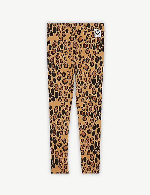 MINI RODINI Basic leopard-printed leggings 4-11 years