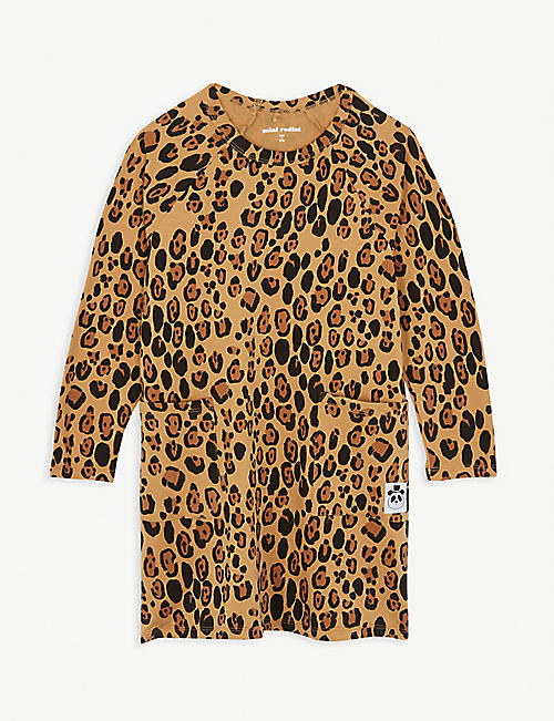 MINI RODINI Basic leopard-printed dress 4-9 years