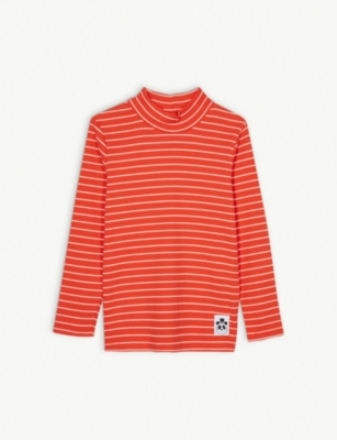 MINI RODINI Striped stretch-cotton top 4-11 years