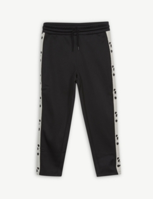 MINI RODINI Panda-motif jersey jogging bottoms 4-11 years