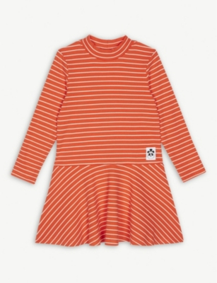 MINI RODINI Striped turtleneck dress 4-11 years