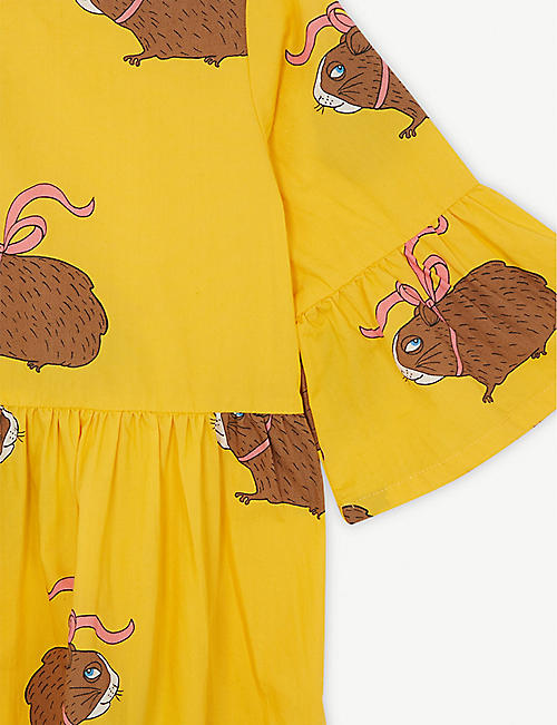 MINI RODINI Posh Guinea Pig cotton flared sleeve dress