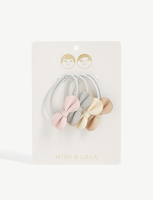MIMI & LULA Gracie bow hair ties pack of four