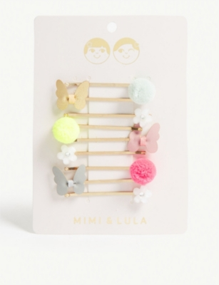 MIMI & LULA Tropical kirby hair grips set of nine