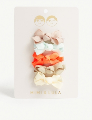 MIMI & LULA Mini Florence bow hair clips set of five