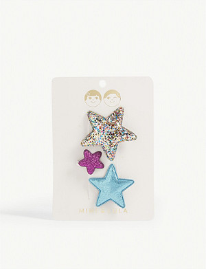 MIMI & LULA Pack of three star hairclips