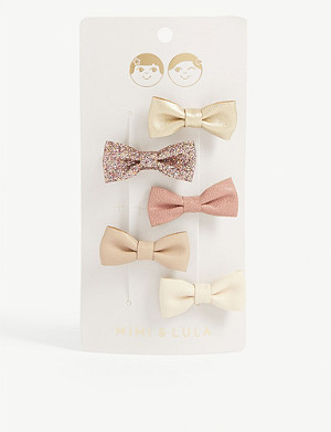 MIMI & LULA Ethel bow hair clips set of five