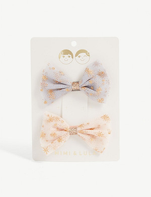 MIMI & LULA Ballerina tutu hair clips set of two