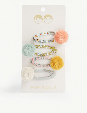 MIMI & LULA Secret Garden hair clips pack of 4