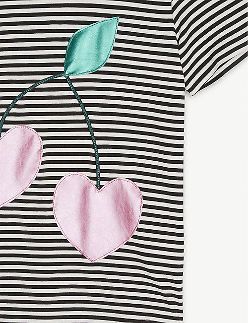 WAUW CAPOW Berry Cherry striped T-shirt 3-9 years