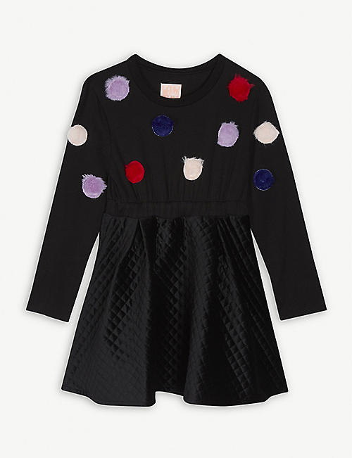 WAUW CAPOW Pom-pom cotton dress 3-9 years