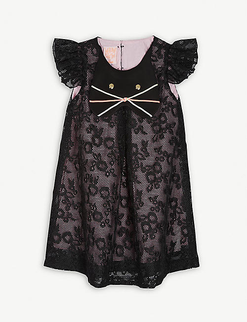 WAUW CAPOW Cat cap-sleeve dress 3-9 years