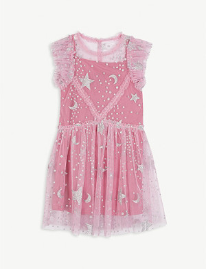 LIBERATED FOLK Glitter star tulle midi dress 2-16 years
