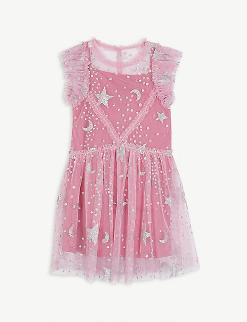 LIBERATED FOLK: Glitter star tulle midi dress 2-13 years