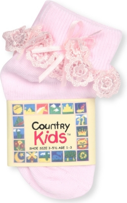 COUNTRY KIDS Venice lace-trim cotton-blend socks 6 months-12 years