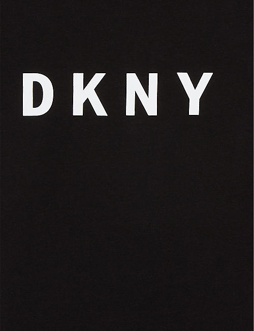 DKNY Logo cotton-blend dress 4-16 years